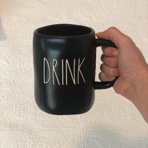 Rae Dunn Black Drink Mug
